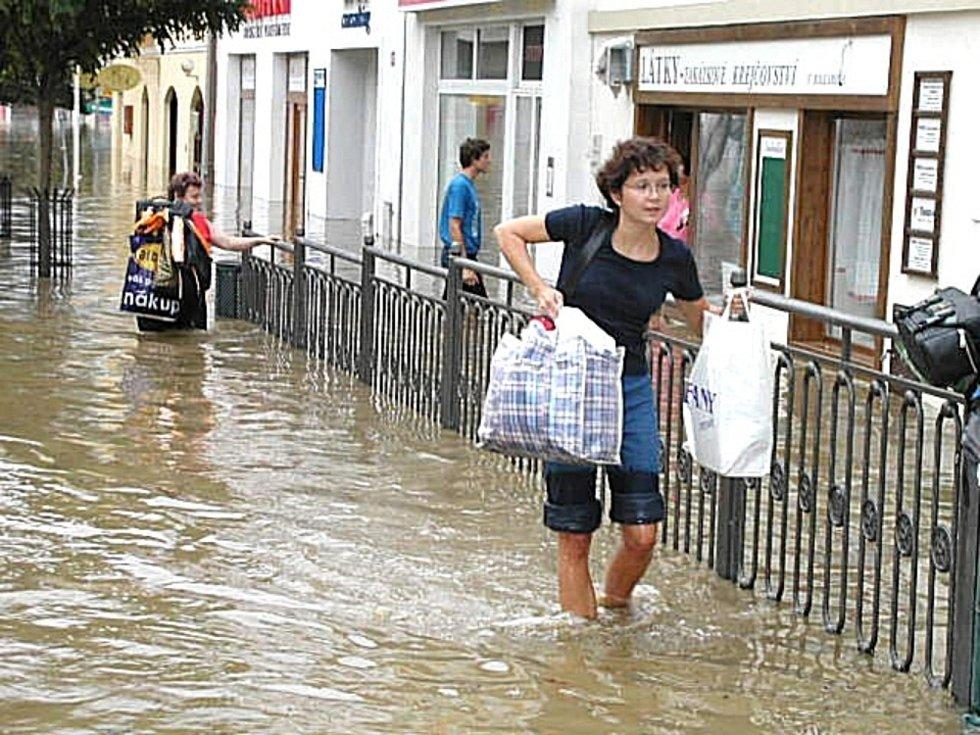 Povodeň v Berouně v roce 2006