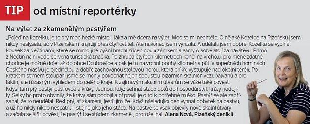 Plzeňsko, tip reportérky