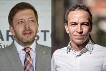 Předseda STAN Vít Rakušan (vlevo) a předseda Pirátů Ivan Bartoš.