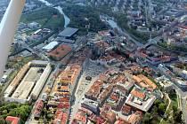 Letecký pohled na město Hradec Králové