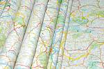 Kartografie, mapa, ilustrační foto