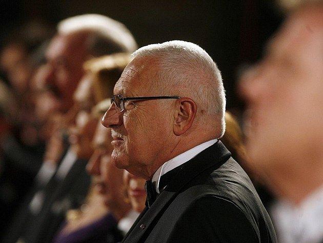 Na snímku prezident republiky Václav Klaus.