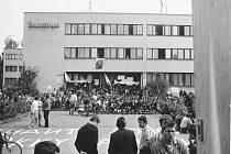 Český rozhlas v Plzni během srpna 1968