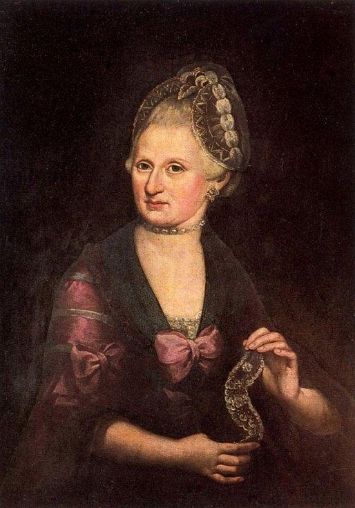Matka Wolfganga Amadea a Nannerl Mozartových - Anna Marie Mozartová.