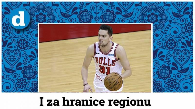 Basketbalista Tomáš Satoranský v dresu Chicaga.