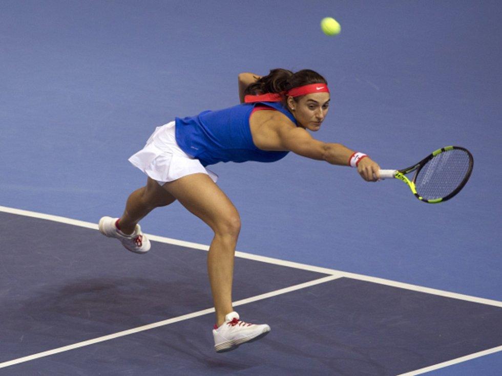Caroline Garciaová z Francie proti Petře Kvitové.