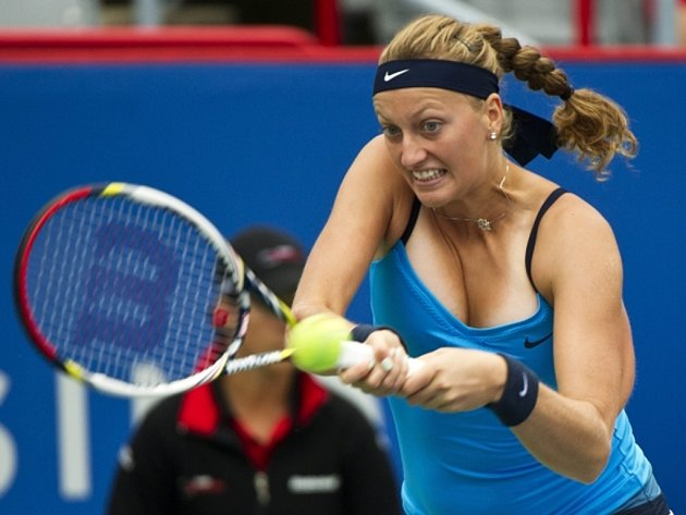 Petra Kvitová na turnaji v Montrealu.