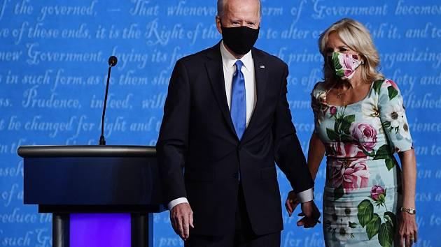 Jill Bidenová a Joe Biden.