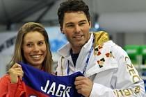 Eva Samková a Jaromír Jágr