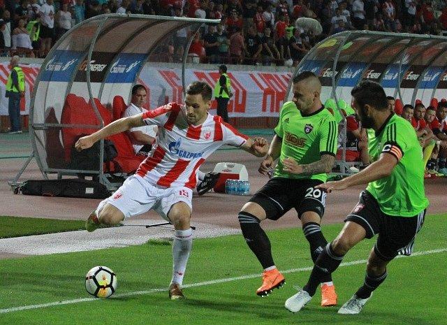 Crvena Zvezda Bělehrad – Spartak Trnava, první utkání třetího předkola Ligy mistrů (1:1).