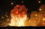 Výbuch muničního skladu na Ukrajině