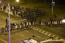 Policejní blokáda v Minsku