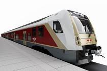 Vizualizace elektrických jednotek pro Lotyšské státní dráhy z díly Škoda Transportation