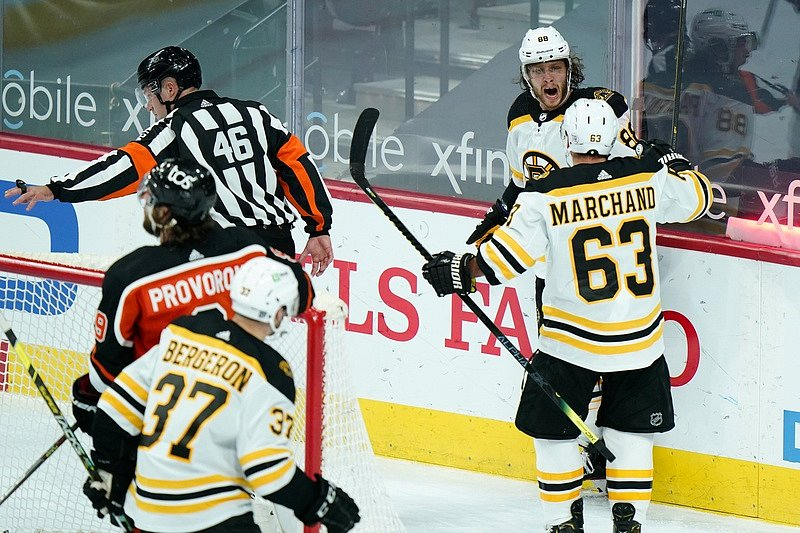 David Pastrňák a radost Bostonu