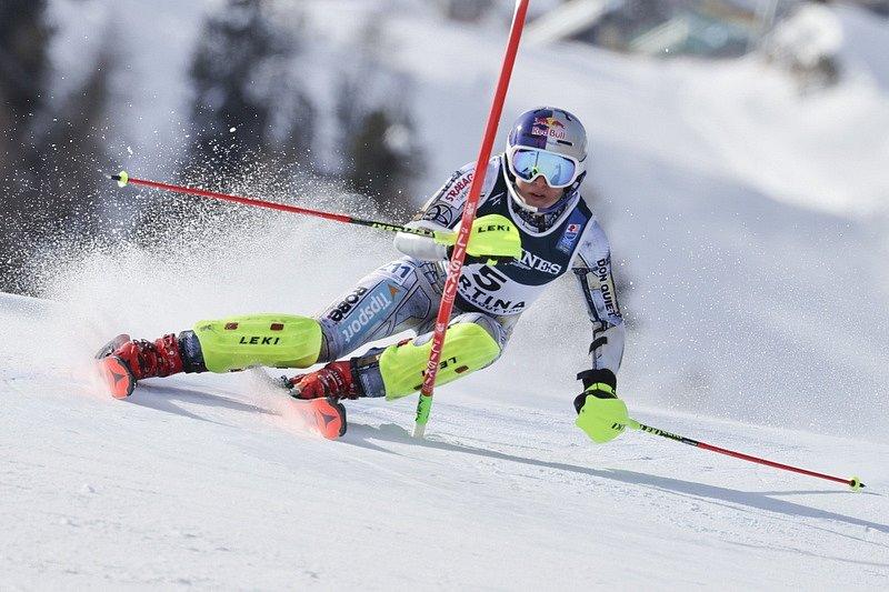 Ester Ledecká a její jízda ve slalomu