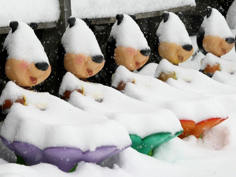 Sněhová kalamita v roce 2012 na Ústecku .