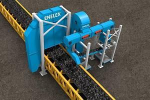 Automatický vzorkovač uhlí na páse