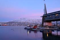 Přístav Tromsö v Norsku.