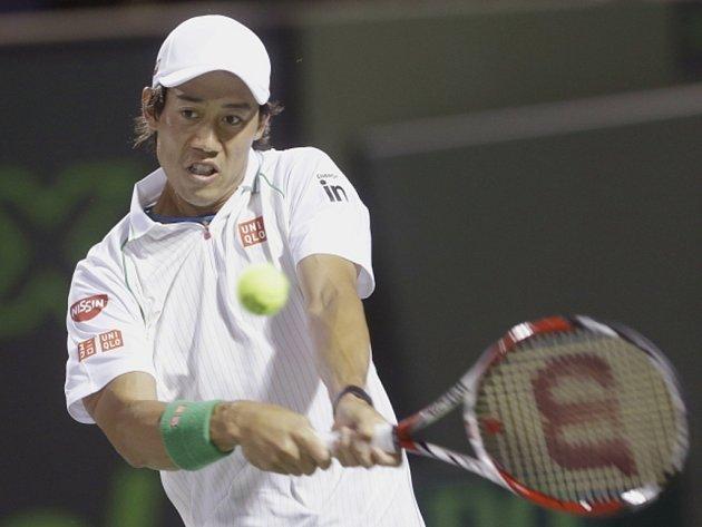 Kei Nišikori vyřadil na turnaji Masters v Miami Rogera Federera.