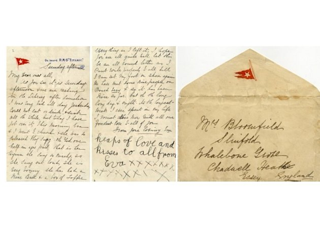 Vydražený dopis z Titanicu.