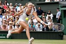 Petra Kvitová ve finále Wimbledonu.