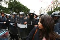 Policejní zásah v centru Tunisu