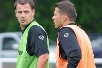 Marek Matějovský (vlevo) a Libor Sionko na tréninku Sparty.