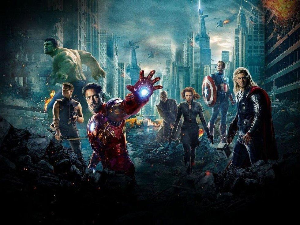 Filmoví hrdinové komiksové adaptace Avengers.