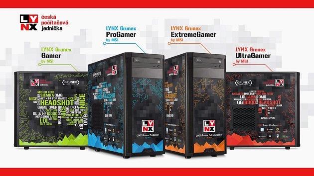 Herní počítače Lynx Grunex.