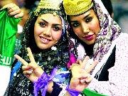 Podporovatelky umírněného duchovního Hasana Rúháního