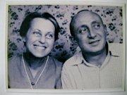 Rodiče Rudolf a Markéta Auerbachovi 1942 - poslední foto před deportací do Terezína