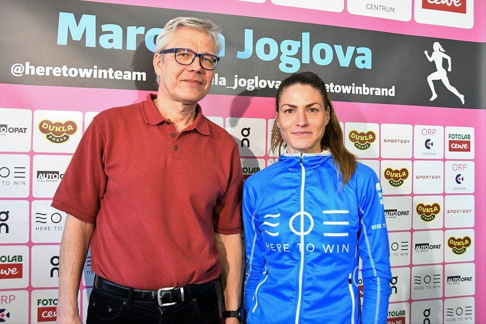 Marcela Joglová s trenérem Pavlem Červinkou