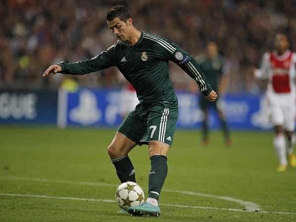 Cristiano Ronaldo v akci.