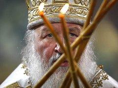 Hlava ruské pravoslavné církve, patriarcha Kirill.