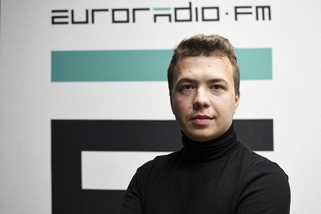 Běloruský novinář a opoziční aktivista Raman Pratasevič.
