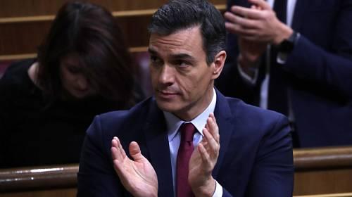 Lídr španělských socialistů Pedro Sánchez v parlamentu