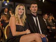 Dvojnásobná wimbledonská šampionka Petra Kvitová s přítelem, hokejistou Radkem Meidlem.