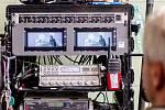 Natáčení filmu, monitor, kamera - ilustrační foto.