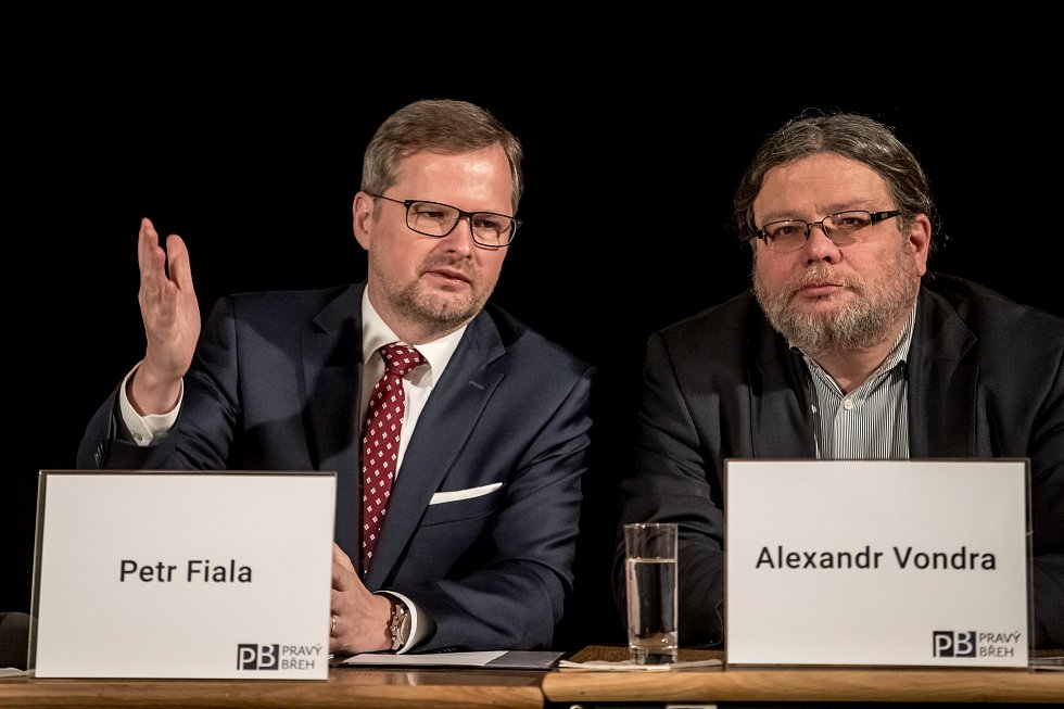 Petr Fiala a Alexandr Vondra