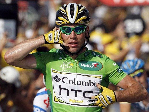 Nejlepší sprintér letošního ročníku Tour de France Brit Mark Cavendish vyhrál třetí etapu, v cíli měl čas propagovat svého sponzora, firmu HTC.