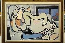 Obraz Emila Filly Ležící žena.