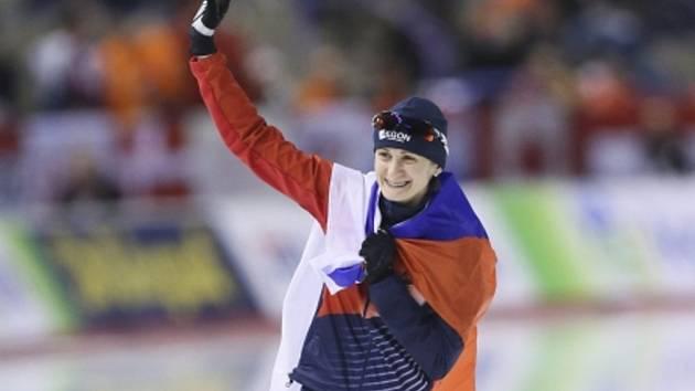 Rychlobruslařka Martina Sáblíková rozšířila svou cennou sbírku medailí o třetí zlato z MS ve víceboji.