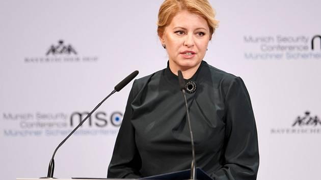 Slovenská prezidentka Zuzana Čaputová na bezpečnostní konferenci v Mnichově 16. února 2020