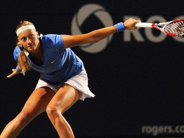 Petra Kvitová na turnaji v kanadském Torontu.