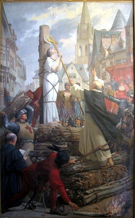 Jana z Arku v Rouenu na hranici