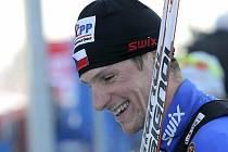 Běžec na lyžích Martin Jakš.