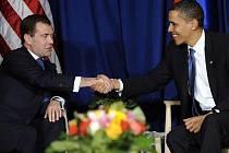 Dmitrij Medveděv a Barack Obama