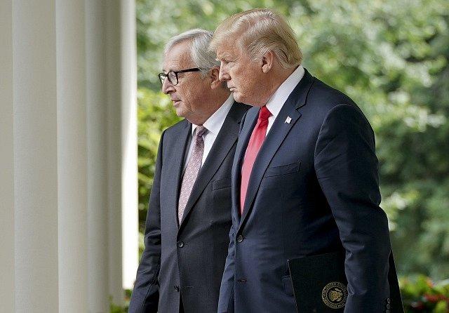Donald Trump a Jean-Claude Juncker