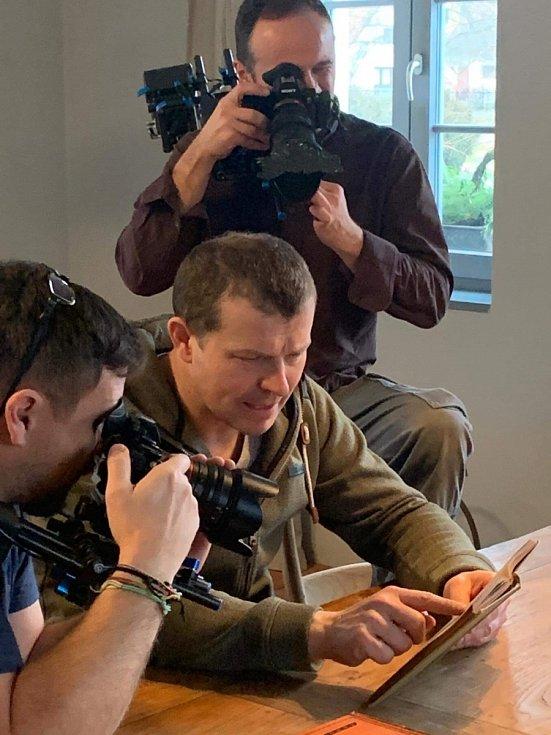 Petr Pěknic při natáčení