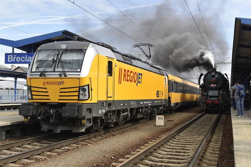 RegioJet a parní lokomotiva Rosnička